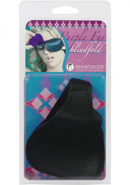 Purple Fur Lined Blindfold
