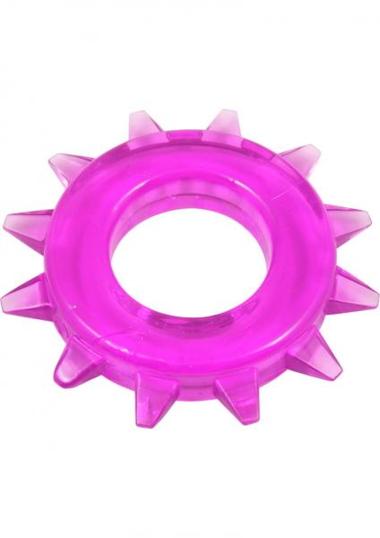 Elastomer Stud Cock Ring Purple