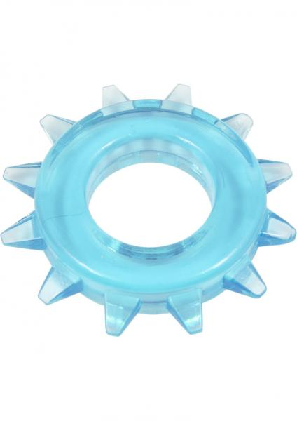 Elastomer Stud Cock Ring Blue