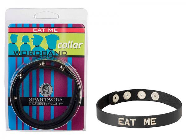 Wordband Collar Eat Me Black O/S