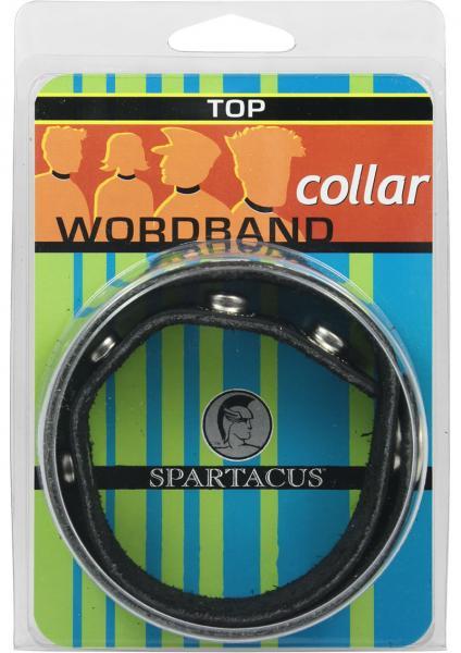 Wordband Collar Top Black