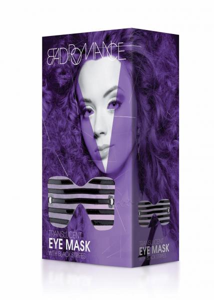 Translucent Eye Mask with Stitching O/S