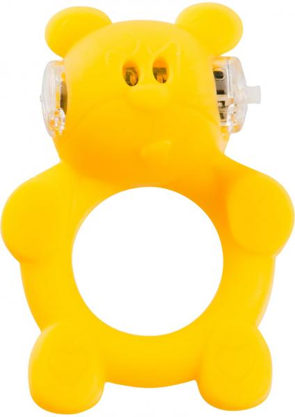 Shots S-Line Beasty Toys Brutal Bear Silicone Cock Ring Yellow