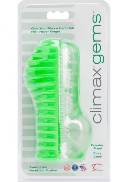 Climax Gems Tourmaline Hand Job Stroker Waterproof Green