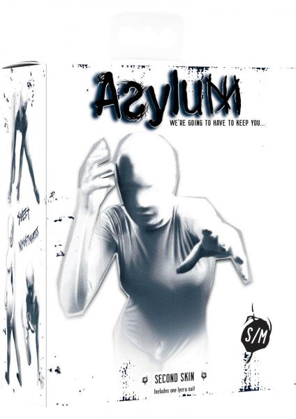 Asylum Second Skin Body Suit Small/Medium White