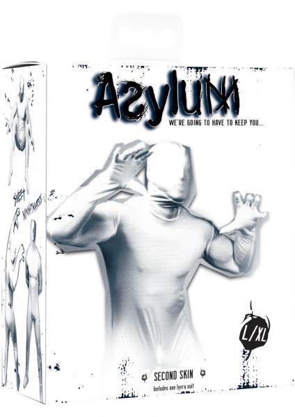 Asylum Second Skin Body Suit Large/X-Large White