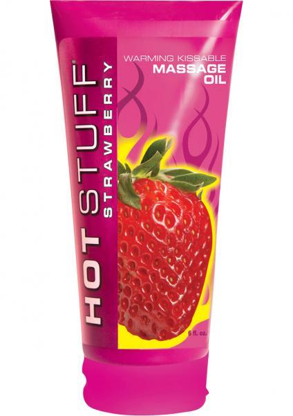 Hot Stuff Warming Massage Oil Strawberry 6oz