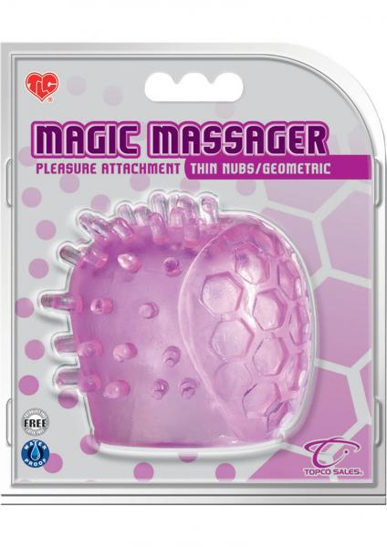 Magic Massager Pleasure Attachment Thin Nubs/Geometric