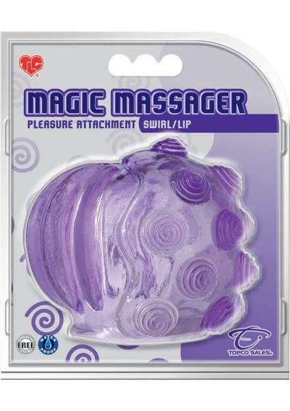 Magic Massager Swirl Lip Pleasure Attachment Purple