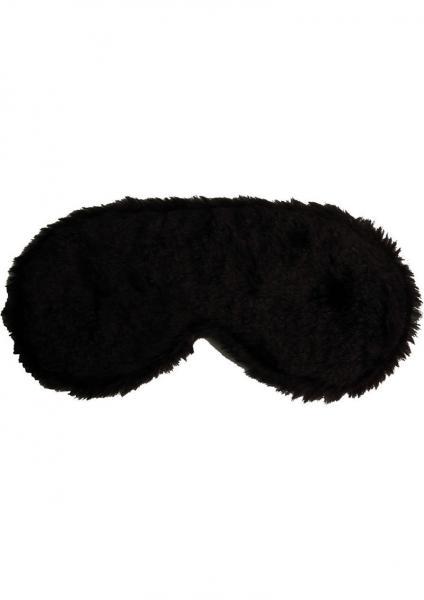 Penthouse Varations Blind Devotion Faux Fur Captivity Mask Black