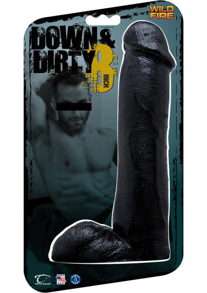 Wildfire Down And Dirty 8 Inch Dong Waterproof Black