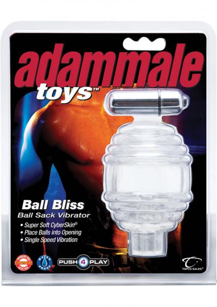 Adammale Toys Ball Bliss Ball Sack Vibrator Clear