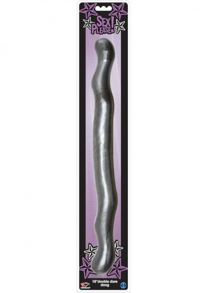 Sex Please Double Dare Dong 18 Inches Silver