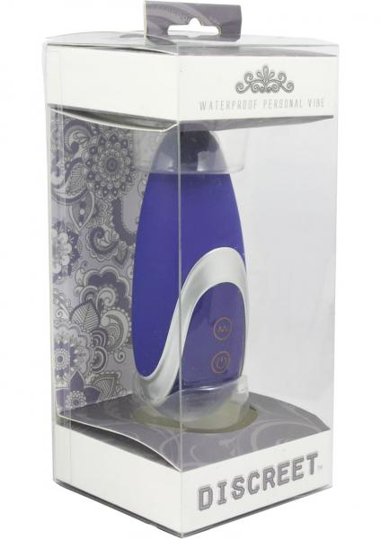 Discreet Silicone Massager Waterproof 4 Inch Blue
