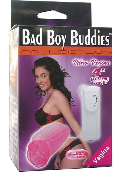 "Bad Boy Buddies Vibrating 4"" Pink Vagina"