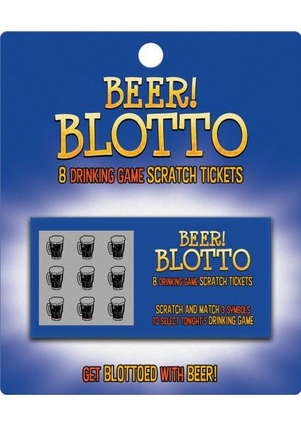 Beer Blotto 8 Drinking Game Scratch Tickets