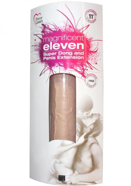 Magnificent Eleven Super Dong And Penis Extension 11 Inch - Flesh