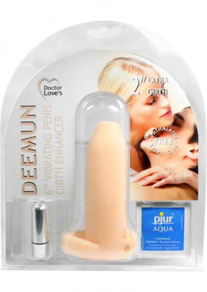 Doctor Loves Deemun Penis Girth Enhancer Vibrating 6 Inch Flesh