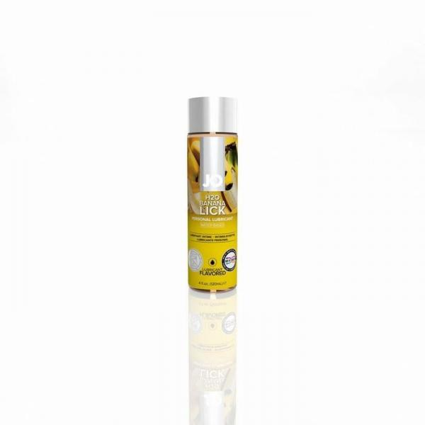 Jo H2O Flavored Water Based Lubricant Banana Lick 4 Ounce