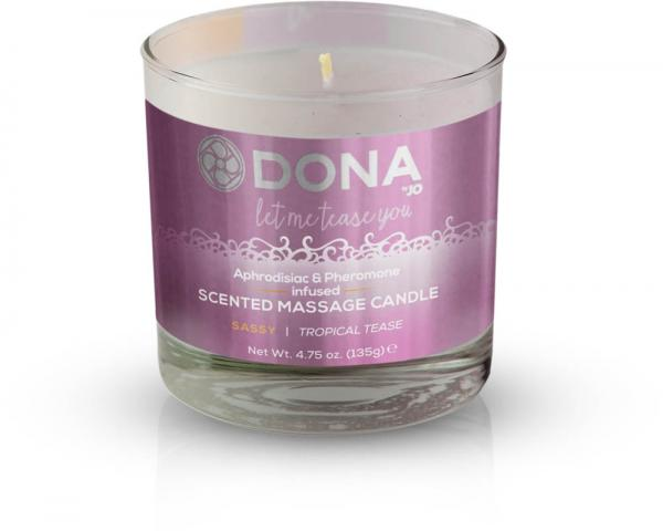 Dona Massage Candle Tropical Tease 4.75oz