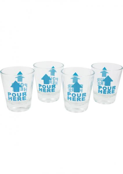 In Case Of Emergency Shot Glass Set 4 Each