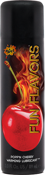 Wet Fun Flavors 4 In 1 Warming Water Based Lubricant Poppn Cherry 3 Ounce