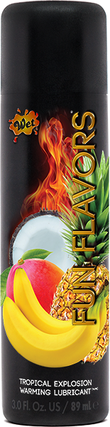Wet Fun Flavors 4 In 1 Lubricant Tropical Fruit Explosion 3oz