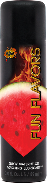 Wet Fun Flavors 4 In 1 Warming Water Based Lubricant Watermelon Blast 3 Ounce