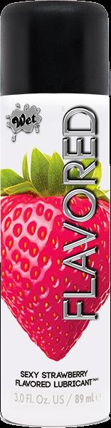 Wet Flavored Gel Lubricant Strawberry 3oz