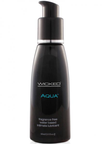 Wicked Aqua Water Based Lubricant Fragrance Free 2 Oz