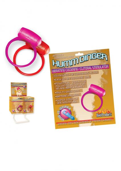 Humm Dinger Vibrating Cockring Purple