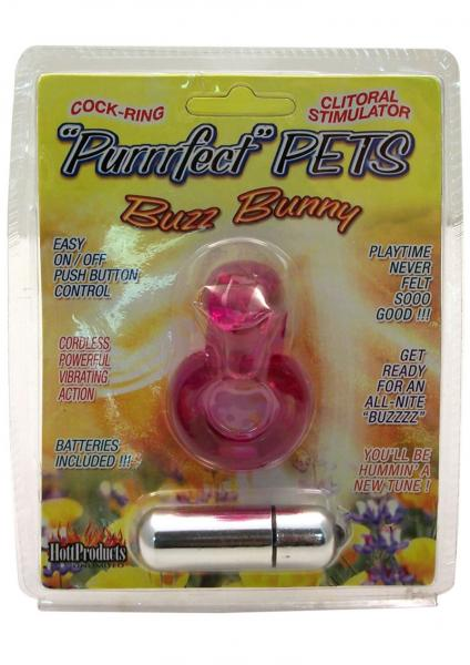 Purrrfect Pets Buzz Bunny Stimulator With Vibrating Bullet Purple