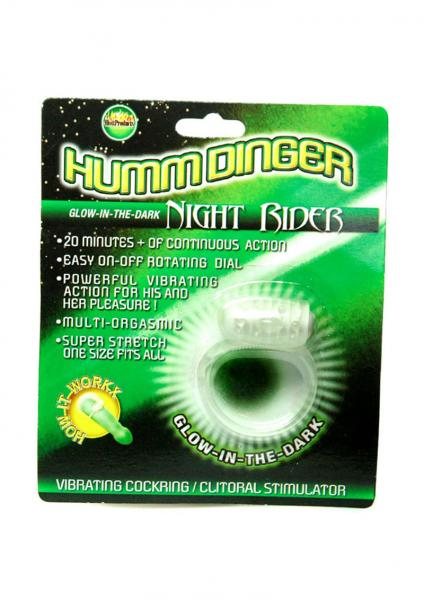 Humm Dinger Night Rider Vibrating Cockring Glow In The Dark