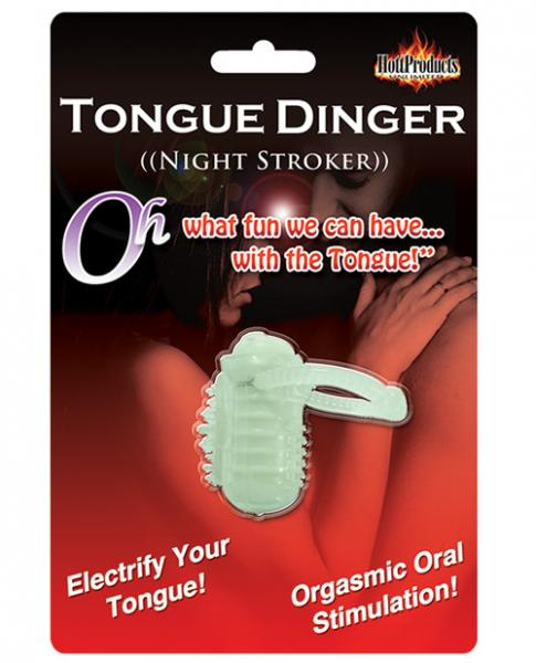 Tongue Dinger Night Stroker Vibrating Ring Glow In The Dark