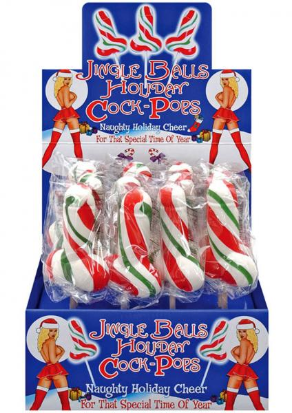 Jingle Balls Holiday Cock Lolliops 12 Per Display