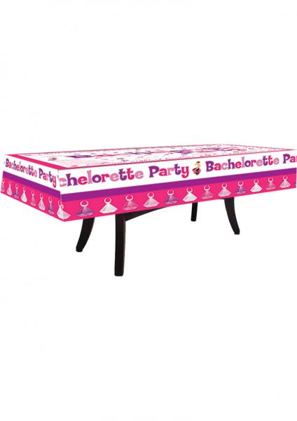 Bachelorette Party Tablecloth with 4 Markers