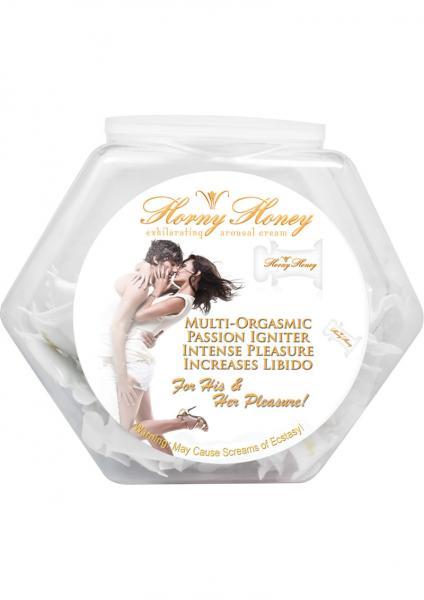 Horny Honey Exhilarating Arousal Gel Display 144 Per Bowl