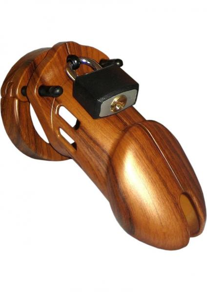 C B 6000 Designer Collection Male Chastity Device Wood Finish