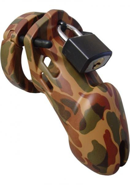 """Chastity 3 1/4""""camouflage Cage"""