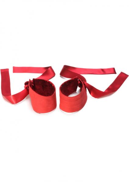 Etherea Silk Cuffs - Red