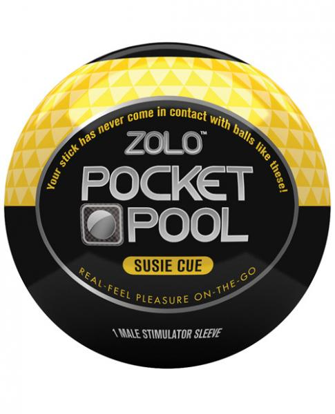 Zolo Pocket Pool Susie Cue Yellow Sleeve