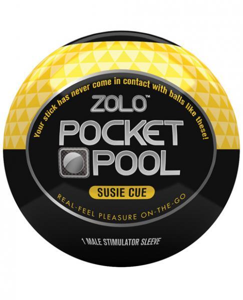 Zolo Pocket Pool Susie Cue Yellow Sleeve