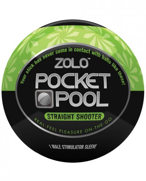Zolo Pocket Pool Straight Shooter Green Sleeve