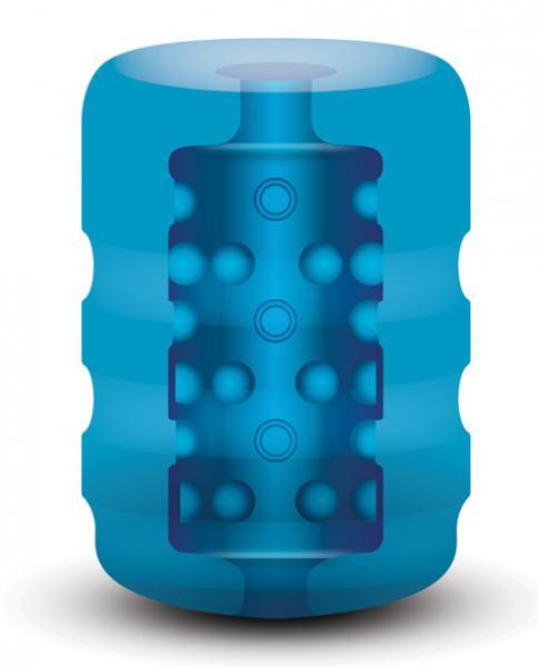 Zolo Backdoor Beaded Texture Pocket Stroker Blue