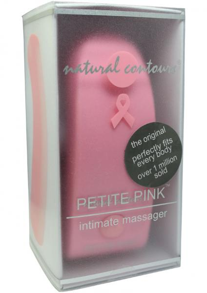 Natural Contours Petite Pink Ribbon Massager 4 Inch Pink