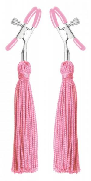 Tickle Me Pink Nipple Clamps Tassels