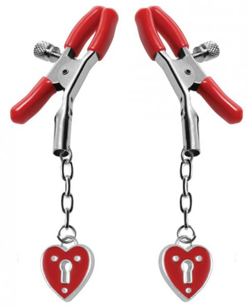 Charmed Heart Padlock Nipple Clamps