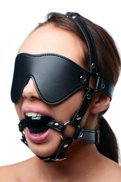 Strict Blindfold Harness Plus Ball Gag
