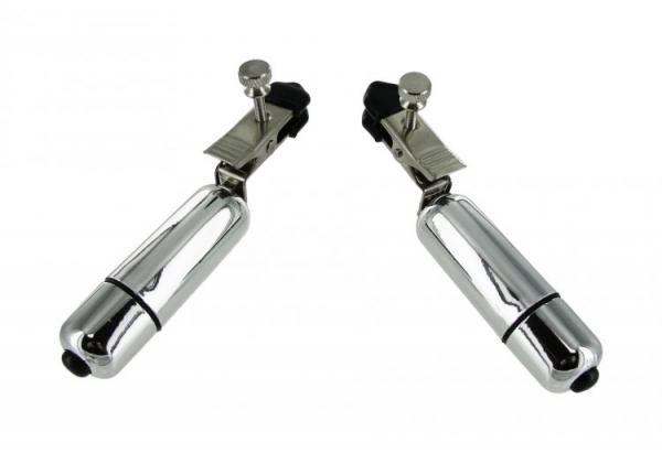 Wireless Vibrating Nipple Clamps Silver