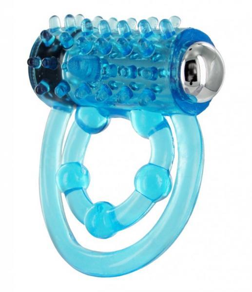 Trinity C Ring Removable Bullet Vibrator Blue